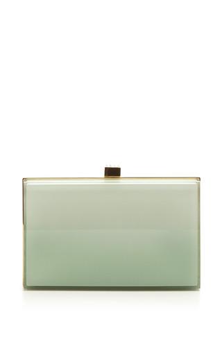 Elie Saab - Mint Small Bubbles Plexi Clutch