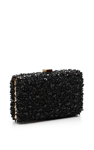 Black Small Embroidery Clutch by Elie Saab for Preorder on Moda Operandi