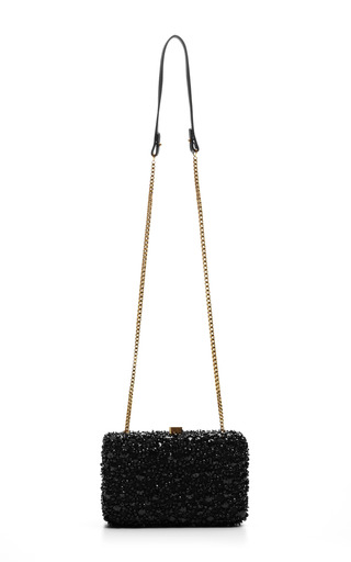 Elie Saab - Black Small Embroidery Clutch