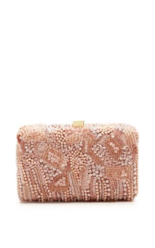 Blush small embroidery clutch by ELIE SAAB for Preorder on Moda Operandi
