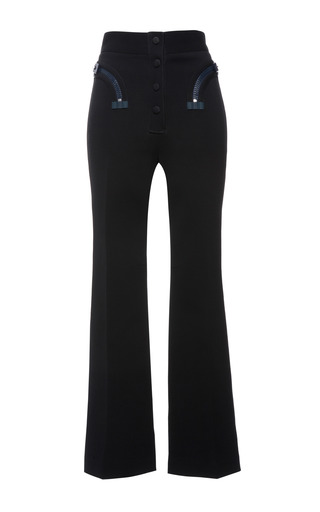 Black double faced compact nylon trouser by CALVIN KLEIN COLLECTION Preorder Now on Moda Operandi