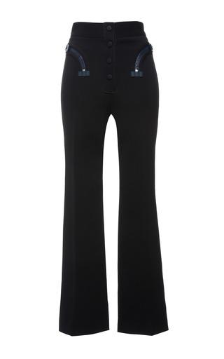 Black double faced compact nylon trouser by CALVIN KLEIN COLLECTION for Preorder on Moda Operandi