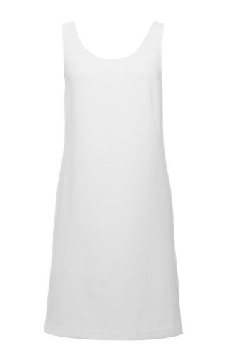 White tech crepe sleeveless dress by CALVIN KLEIN COLLECTION Preorder Now on Moda Operandi