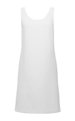 White tech crepe sleeveless dress by CALVIN KLEIN COLLECTION for Preorder on Moda Operandi