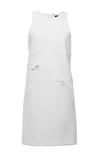 White stretch twill sleeveless dress by CALVIN KLEIN COLLECTION for Preorder on Moda Operandi
