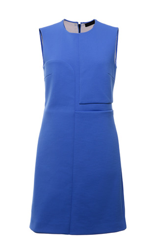Cerulean double faced compact nylon sleeveless dress by CALVIN KLEIN COLLECTION Preorder Now on Moda Operandi