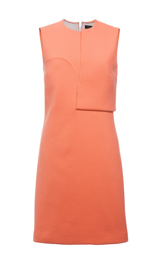 Carmine double faced compact nylon sleeveless dress by CALVIN KLEIN COLLECTION Preorder Now on Moda Operandi