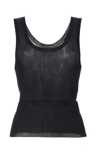 Indigo viscose knit tank top by CALVIN KLEIN COLLECTION Preorder Now on Moda Operandi