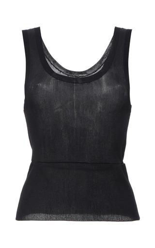 Indigo viscose knit tank top by CALVIN KLEIN COLLECTION for Preorder on Moda Operandi