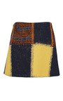 Yellow Chalk Squares Mini Skirt by MARNI Now Available on Moda Operandi
