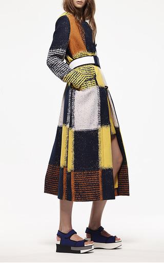 Yellow Chalk Squares Mini Skirt by Marni for Preorder on Moda Operandi