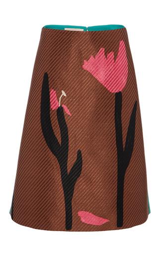 Raffia flower a-line skirt by MARNI Preorder Now on Moda Operandi