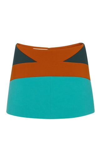 Color-blocked bonded wool mini skirt by MARNI Preorder Now on Moda Operandi