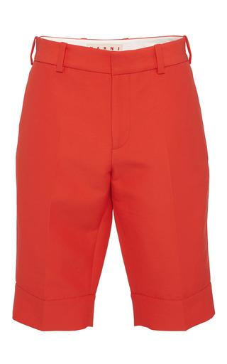 Red cotton bermuda shorts by MARNI Preorder Now on Moda Operandi
