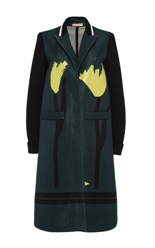 Raffia flower print coat by MARNI Preorder Now on Moda Operandi