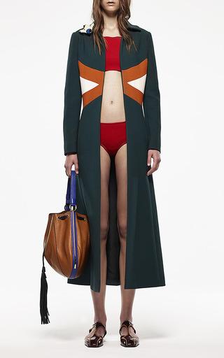Hunter Green Duster Coat by Marni for Preorder on Moda Operandi