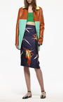 Color-Blocked Leather Duster Coat by Marni for Preorder on Moda Operandi