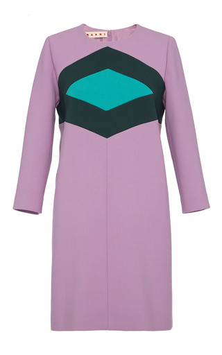 Color-blocked geometic tunic dress by MARNI Preorder Now on Moda Operandi