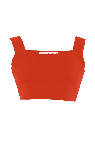 Red knit tank top by MARNI Preorder Now on Moda Operandi