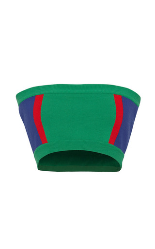 Color-blocked strapless knit top by MARNI Preorder Now on Moda Operandi