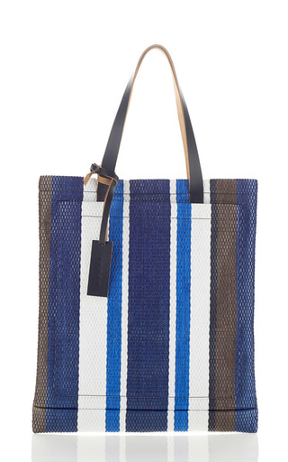 Eclipse woven straw shopping bag by MARNI Preorder Now on Moda Operandi