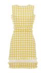 MSGM - Yellow Check Sheath Dress