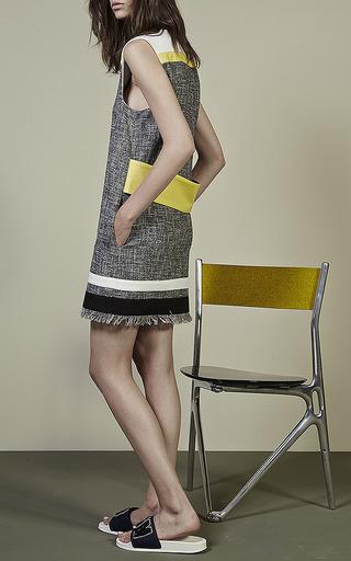 MSGM - Sleeveless Tweed Shift Dress