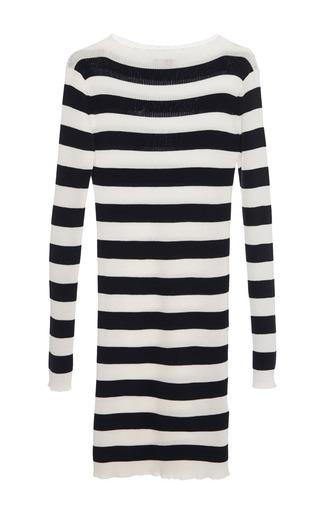 Navy and white stripe knit dress by MSGM Preorder Now on Moda Operandi