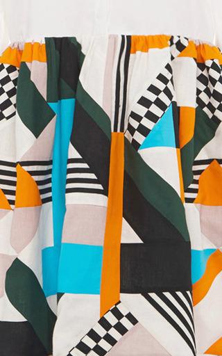 Optical Patchwork Shirt Dress by MSGM for Preorder on Moda Operandi