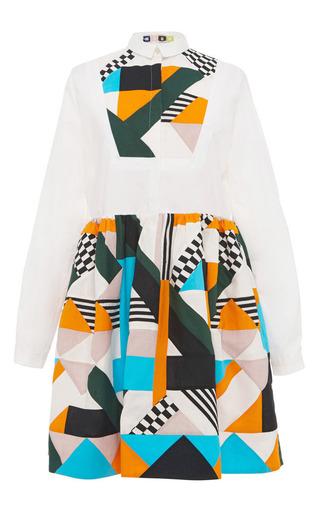MSGM - Optical Patchwork Shirt Dress