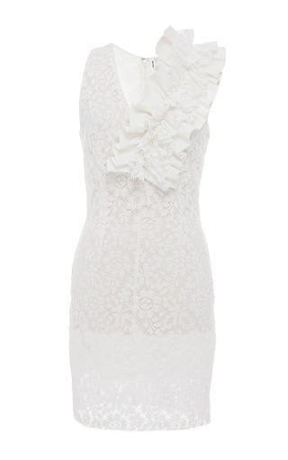 White Lace Sheath Dress by MSGM for Preorder on Moda Operandi