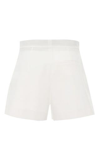 White Cotton Pique Shorts by MSGM for Preorder on Moda Operandi