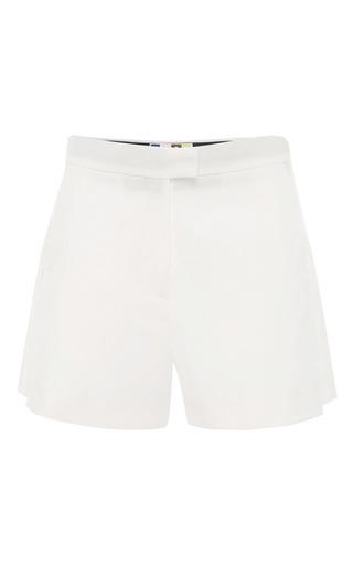 MSGM - White Cotton Pique Shorts
