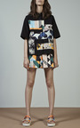 MSGM - Optical Pique Print Mini Skirt