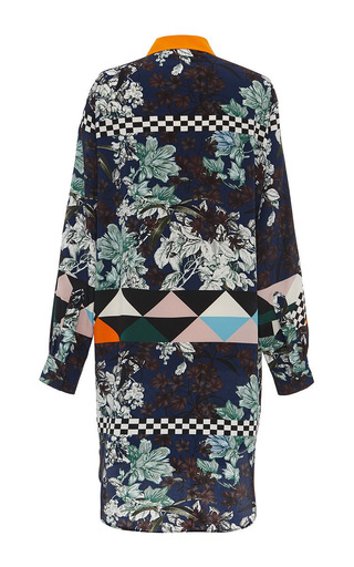 Optical Vintage Floral Silk Shirt Dress by MSGM for Preorder on Moda Operandi