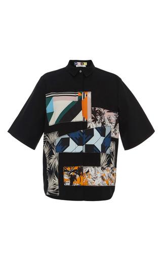Patchwork print button down shirt by MSGM Preorder Now on Moda Operandi