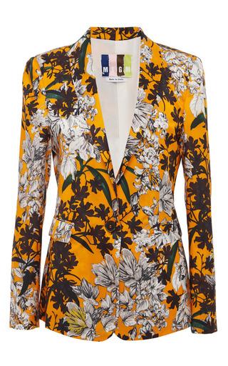 Orange vintage floral print blazer by MSGM Now Available on Moda Operandi