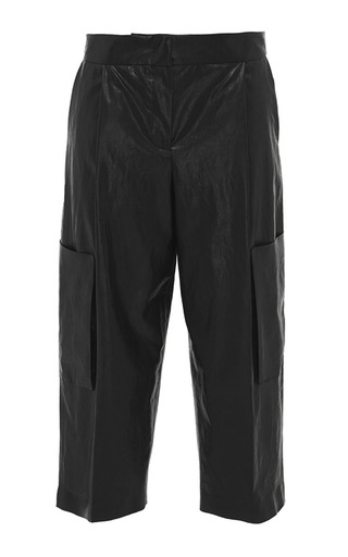 Eco leather crop trousers by MSGM Now Available on Moda Operandi
