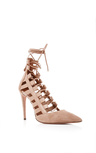 Amazon suede pumps by AQUAZZURA Now Available on Moda Operandi