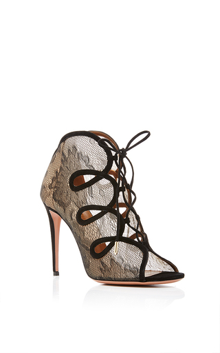 French kiss lace pumps by AQUAZZURA Available Now on Moda Operandi