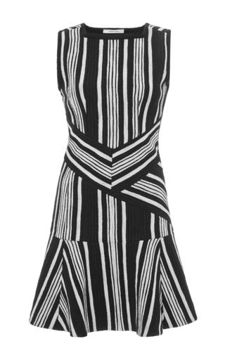 Striped cut-out tweed dress by CARVEN Now Available on Moda Operandi