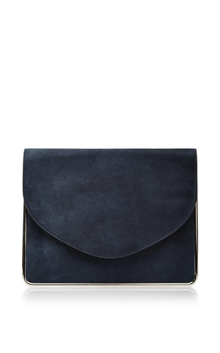 Suede clutch by CARVEN Available Now on Moda Operandi