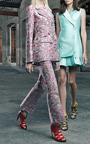 Seafoam Green Duchess Waistcoat Dress by Antonio Berardi for Preorder on Moda Operandi