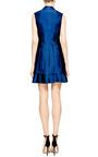 Antonio Berardi Marine Blue Duchess Waistcoat Dress by ANTONIO BERARDI Now Available on Moda Operandi