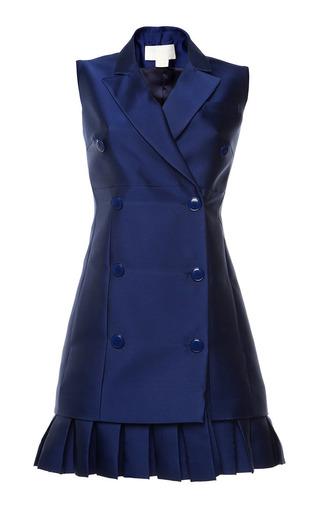 Antonio berardi marine blue duchess waistcoat dress by ANTONIO BERARDI Preorder Now on Moda Operandi