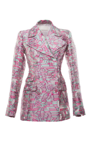 Fil coupe double breasted jacket by ANTONIO BERARDI Preorder Now on Moda Operandi
