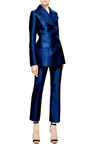 Antonio Berardi Marine Blue Duchess Tuxedo Jacket by Antonio Berardi for Preorder on Moda Operandi