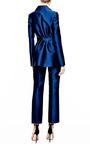 Antonio Berardi Marine Blue Duchess Tuxedo Jacket by Antonio Berardi for Preorder on Moda Operandi