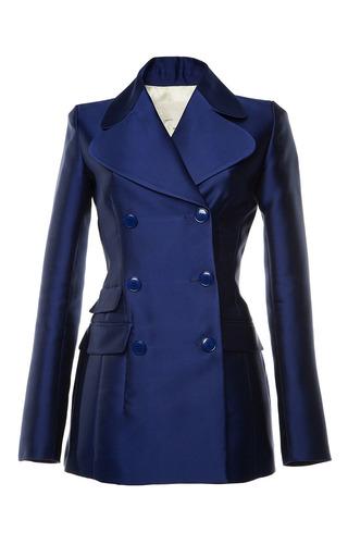 Antonio berardi marine blue duchess tuxedo jacket by ANTONIO BERARDI Preorder Now on Moda Operandi