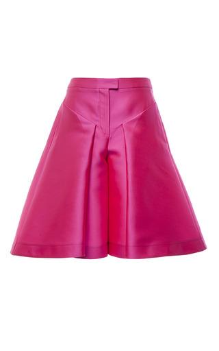 Magenta duchess satin culottes by ANTONIO BERARDI Preorder Now on Moda Operandi
